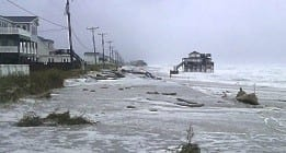N.C. 12 in Kitty Hawk during Hurricane Sandy. (NCDOT)