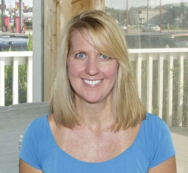 """Ali Breaux -- Sun Realty president and the only """"experienced"""" skydiver with one tandem jump."""
