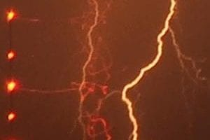 Two hospitalized after being hit by lightning in Carova