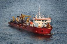 Big dredge arrives off Duck; nourishment could start overnight