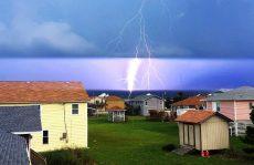 Storms break heat wave with intense, damaging lightning