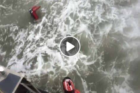 Video: Jose offers Coast Guard chance to train off Oregon Inlet