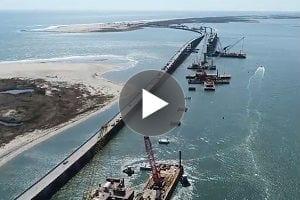 Video: North end of new Bonner Bridge 75 percent done