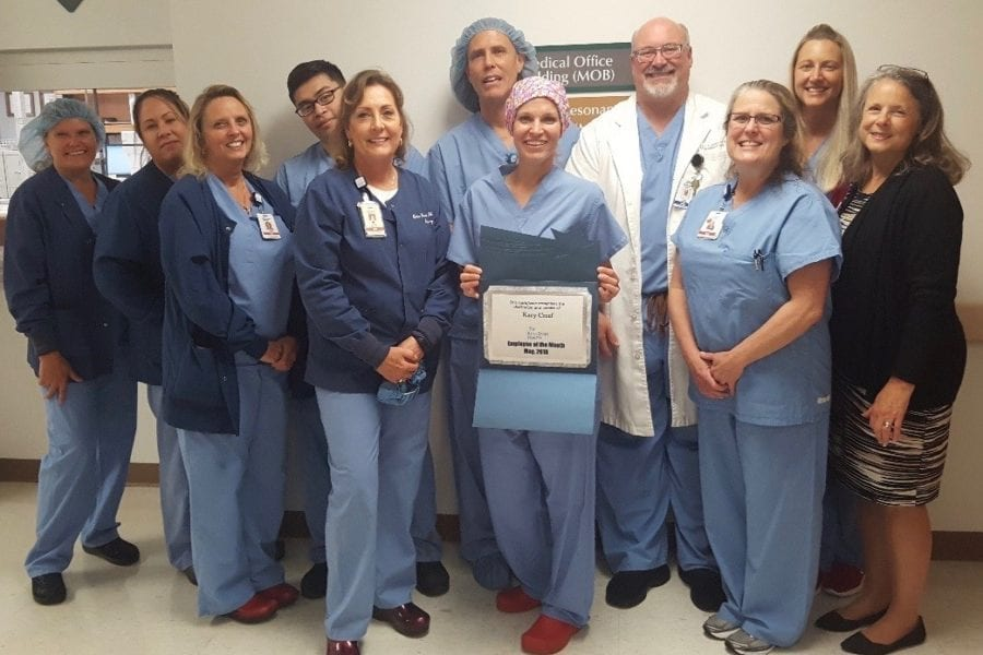 Kacy Creef named hospital's May Employee of the Month