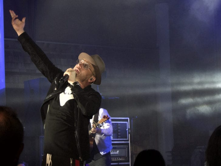 Toby Mac in performance Wednesday night at Roanoke Island Festival Park. (Kip Tabb)
