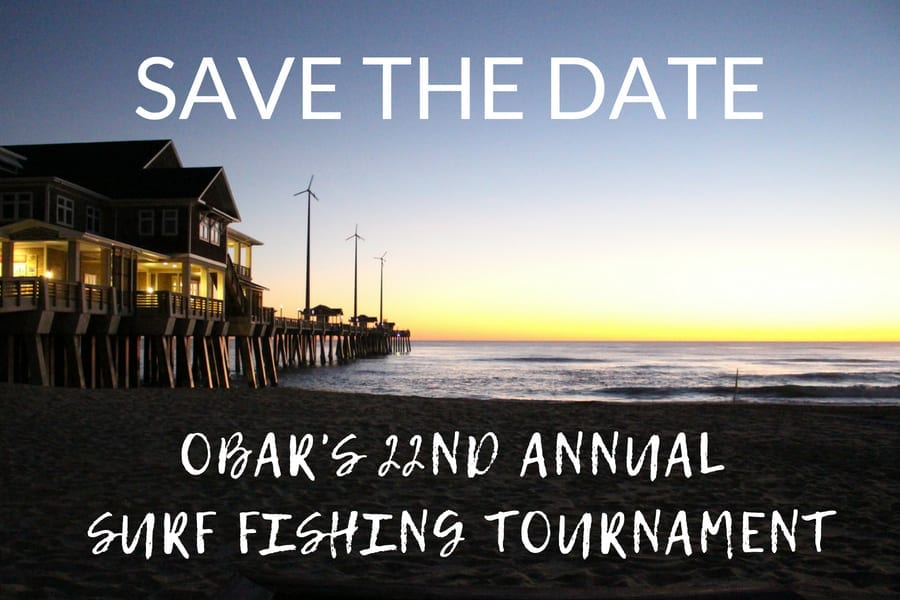 Save the Date:  22nd Annual OBAR Surf Fishing Tournament