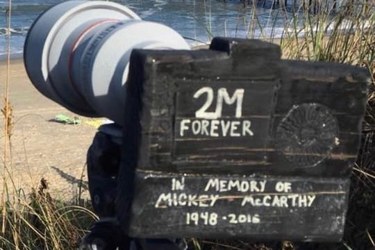 Memorial to surf photographer Mickey McCarthy goes missing