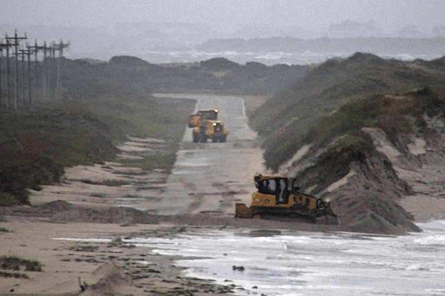 Expect delays on north end of Ocracoke as dunes are rebuilt