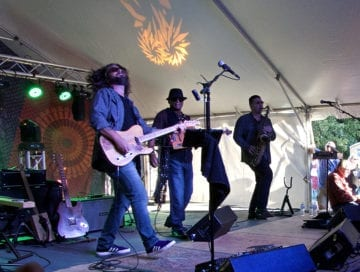 Anthony Rosano and the Conqueroos performing Saturday. Featuring a wide variety of rock and blues they seemed to standout among one of the best rock festivals we have seen on the Outer Banks.