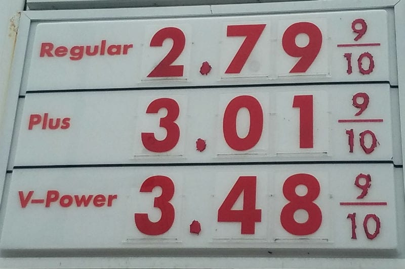Gas prices continue to slide, but not on the Outer Banks