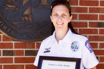 EMT Paramedic Ashley Johnson receives Employee of the Month