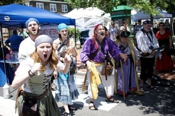 The Motley Tones singing pirate songs at Dare Day.