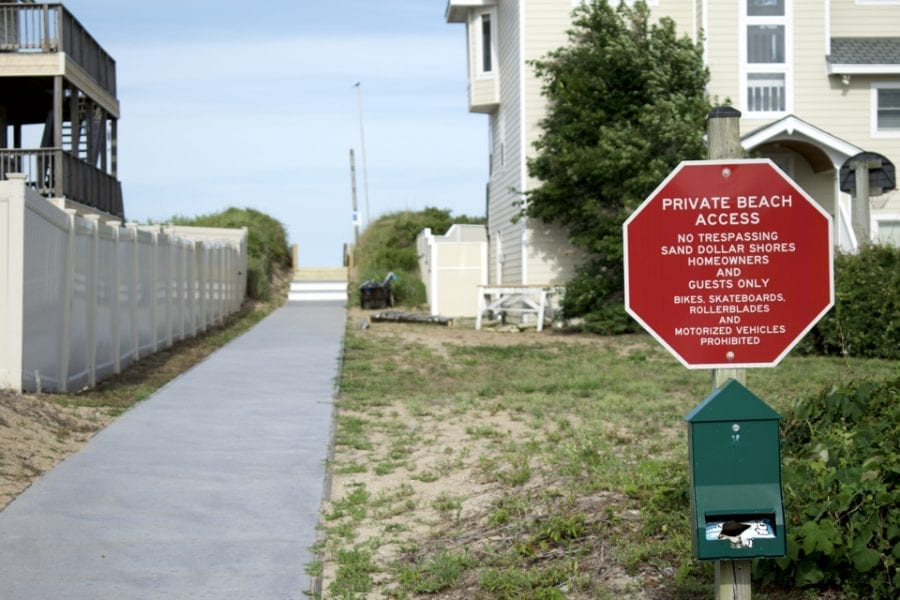 Sea Breeze Drive Access in Duck. Is the access private as the Sand Dollar Shores HOA asserts or is it public according to Bob Hovey?