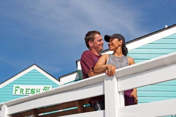 Steven and Tungaa Gawlinski outside their restaurant, Freshfit Café.