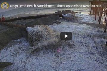 Nags Head Beach Nourishment Time Lapse Video Near Outer Banks Pier August 2019